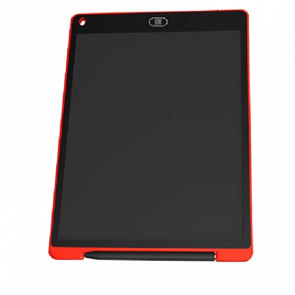 Bảng vẽ tự xóa LCD 12 Inch Màu Đỏ bìa