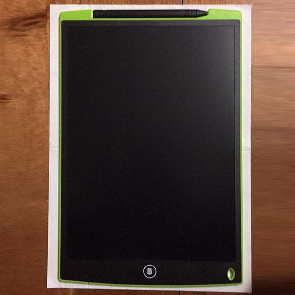 Bảng vẽ tự xóa LCD 12 Inch Màu xanh lá trước