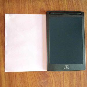 Bảng viết vẽ tự xóa LCD 8.5 Inch màu đen mặt trước 2