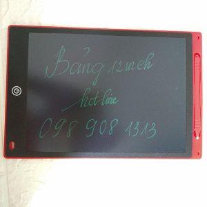 Bảng viết vẽ tự xóa LCD 12 Inch Màu Đỏ bìa