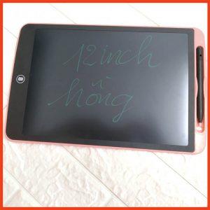 Bảng viết vẽ tự xóa LCD 12 Inch Nét Đậm Màu hồng 2020 bìa