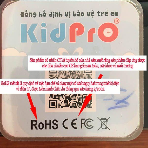 Chứng nhận RoHS, CE đồng hồ định vị trẻ em Kidpro