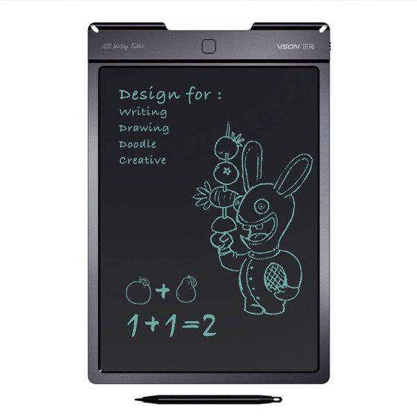 Bảng viết vẽ điện tử tự xóa và lưu dữ liệu vào thiết bị Android, iPhone, iPad TechPro Vson 13 (Đen) 13inch bìa