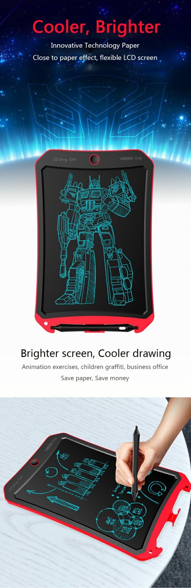 Bảng viết vẽ điện tử tự xóa và lưu dữ liệu vào thiết bị Android, iPhone, iPad TechPro Vson 10inch WP9316 3