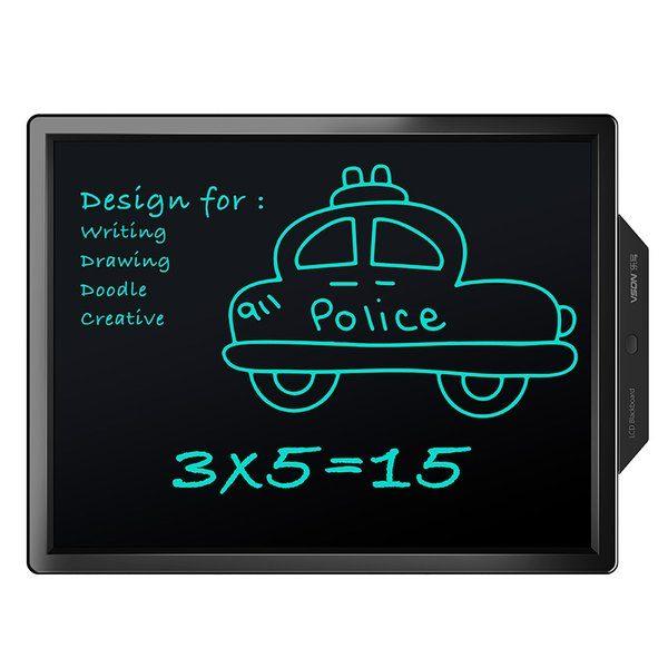 Bảng viết vẽ ghi chú tự xóa thông minh màn hình khủng TechPro Vson 20 inch bìa