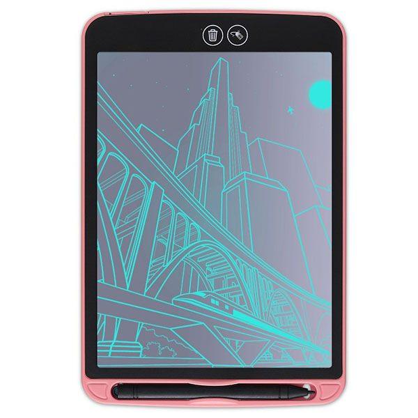 Bảng viết vẽ ghi chú tự xóa thông minh xóa theo ý muốn TechPro Smart Erase 12 inch hồng