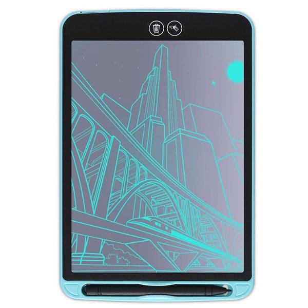 Bảng viết vẽ ghi chú tự xóa thông minh xóa theo ý muốn TechPro Smart Erase 12 inch xanh dương