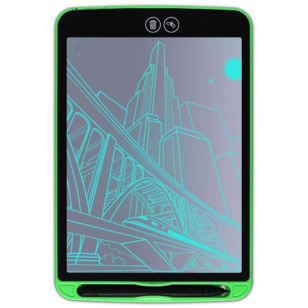 Bảng viết vẽ ghi chú tự xóa thông minh xóa theo ý muốn TechPro Smart Erase 12 inch xanh lá