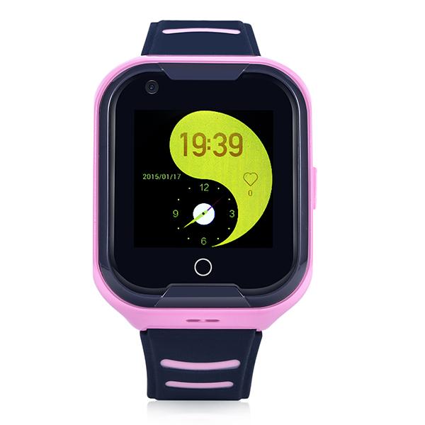 Đồng Hồ Định Vị Trẻ Em GPS, Chống Nước IP67, Hỗ Trợ Camera, Gọi Video Call 4G Kidpro7 Màu Hồng bìa