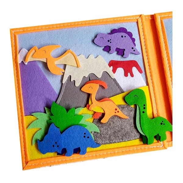 Sách vải khủng long đáng yêu 1