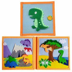 Sách vải khủng long bìa