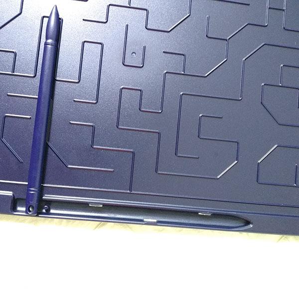 Bảng viết vẽ ghi chú tự xóa thông minh màn đa sắc TechPro 15 inch Màu Xanh 2