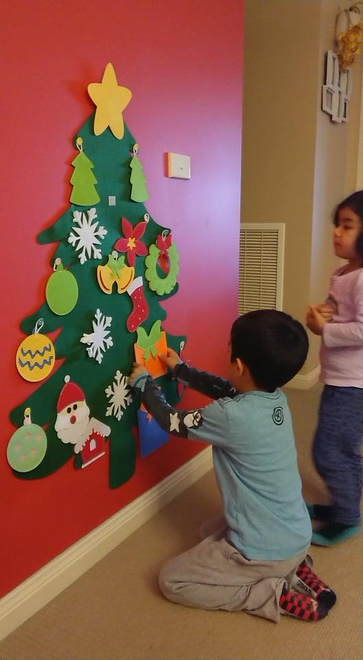 Cây thông Noel Giáng Sinh treo tường Handmade - Christmas tree 2