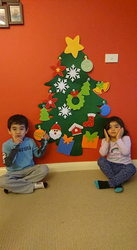 Cây thông Noel Giáng Sinh treo tường Handmade - Christmas tree 3