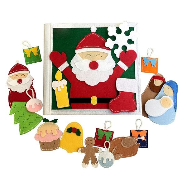 Sách Vải Giáng Sinh Vui Vẻ - Dành cho bé mầm non từ 1 - 6 tuổi bìa