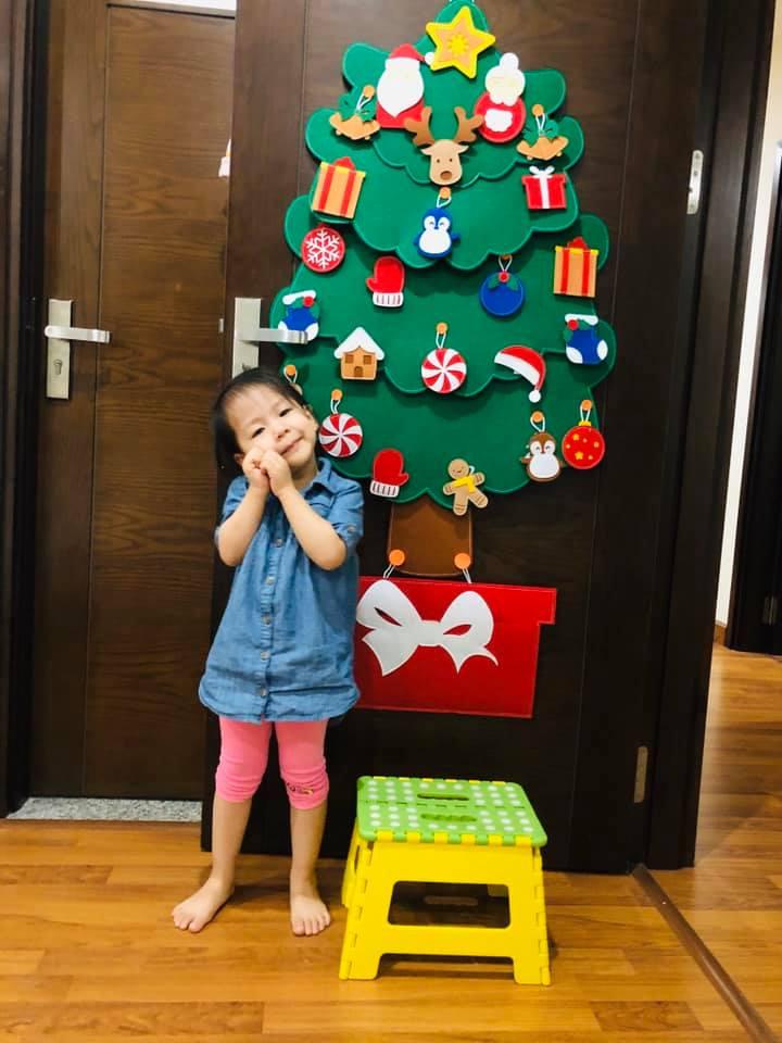 Cây Thông Noel Giáng Sinh Hạnh Phúc treo tường Cỡ lớn 8