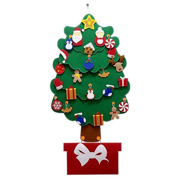 Cây Thông Noel Giáng Sinh Hạnh Phúc treo tường Cỡ lớn bìa