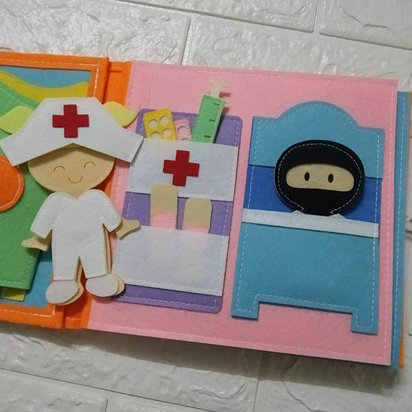 Sách vải Mầm Non Nghề Nghiệp Quanh Em - Dành cho bé gái từ 1 - 6 tuổi 2