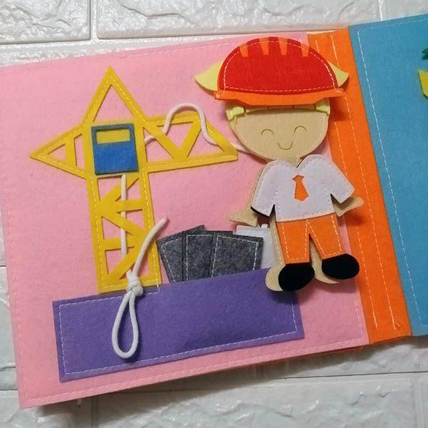 Sách vải Mầm Non Nghề Nghiệp Quanh Em - Dành cho bé gái từ 1 - 6 tuổi 3