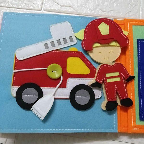 Sách vải Mầm Non Nghề Nghiệp Quanh Em - Dành cho bé gái từ 1 - 6 tuổi 5