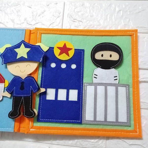 Sách vải Mầm Non Nghề Nghiệp Quanh Em - Dành cho bé gái từ 1 - 6 tuổi 6
