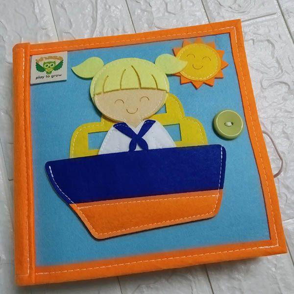 Sách vải Mầm Non Nghề Nghiệp Quanh Em - Dành cho bé gái từ 1 - 6 tuổi bìa