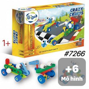 Đồ Chơi Gigo Lắp Ráp Xe Đua 8 mô hình cho trẻ 1+ bìa