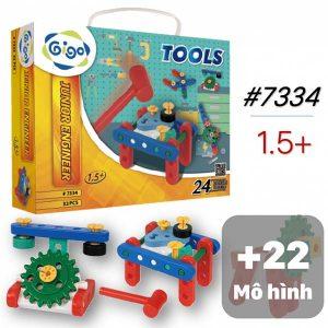 Đồ Chơi Lắp ráp Gigo Vali Miếng Ghép Hình Sáng Tạo 24 mô hình cho bé bìa