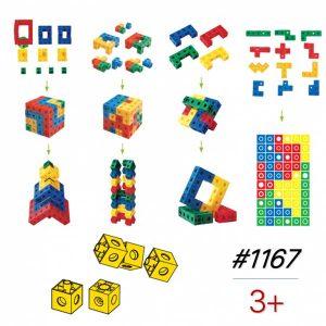 Ghép Hình Không Gian 3D 88 miếng ghép vuông | Gigo bìa