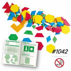 Miếng Ghép Hình Bằng Nhựa Gigo 250 chi tiết nhiều màu bìa