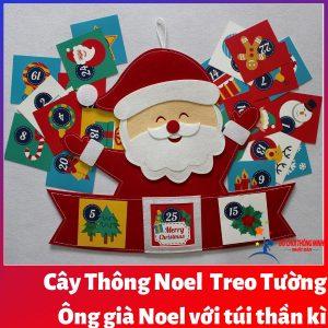 Cây thông Noel Giáng Sinh hạnh phúc treo tường 1